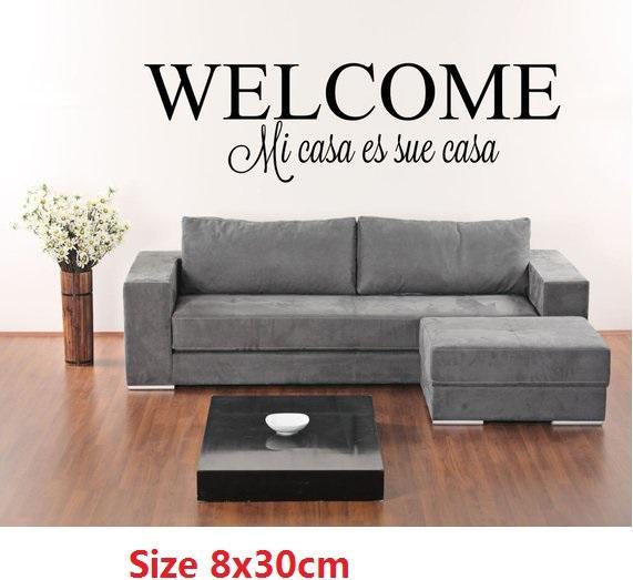 Grosshandel Spanisch Willkommen Mi Casa Es Sue Casa Vinyl Walldoor