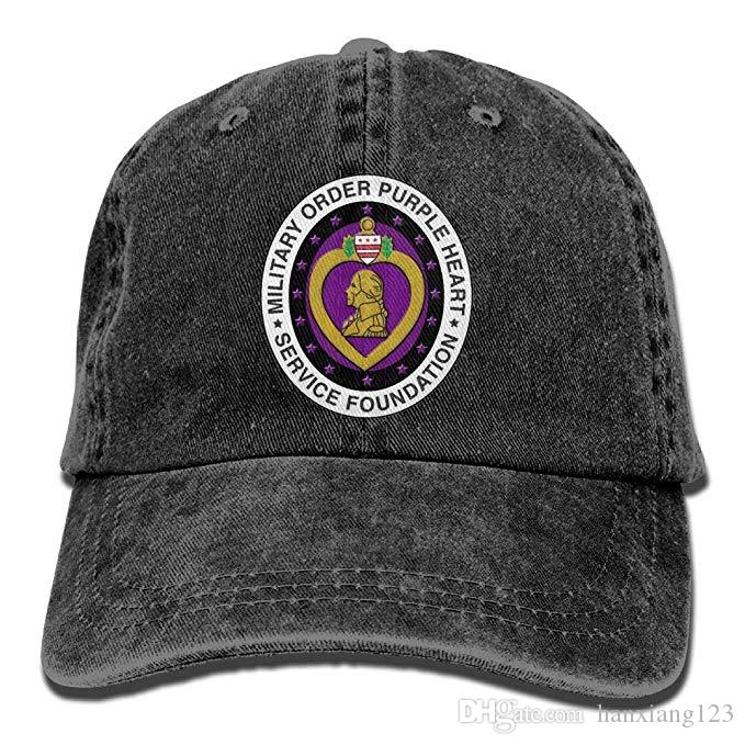 bf7162381e1 2019 2019 New Custom Baseball Caps Purple Heart Mens And Women Cotton  Adjustable Washed Twill Baseball Cap Hat From Hanxiang123