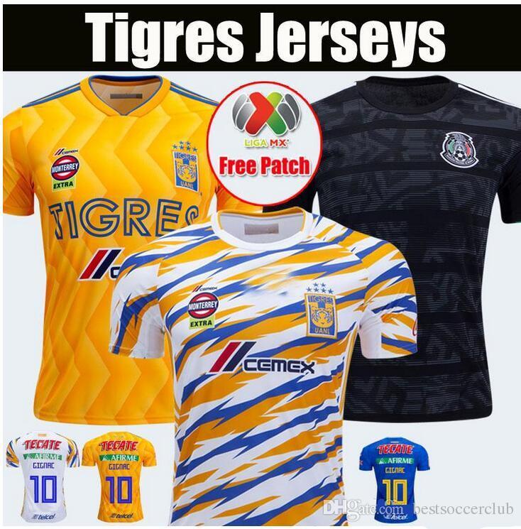 2019 2020 Tigres Soccer Jersey 19 20 UANL GIGNAC VARGAS home away 3rd  football shirts S-2XL