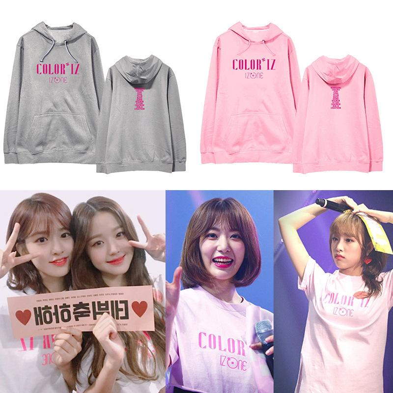 K-pop IZONE combination hooded debut album COLORIZ concert around the same  paragraph hoodie men and women spring and autumn