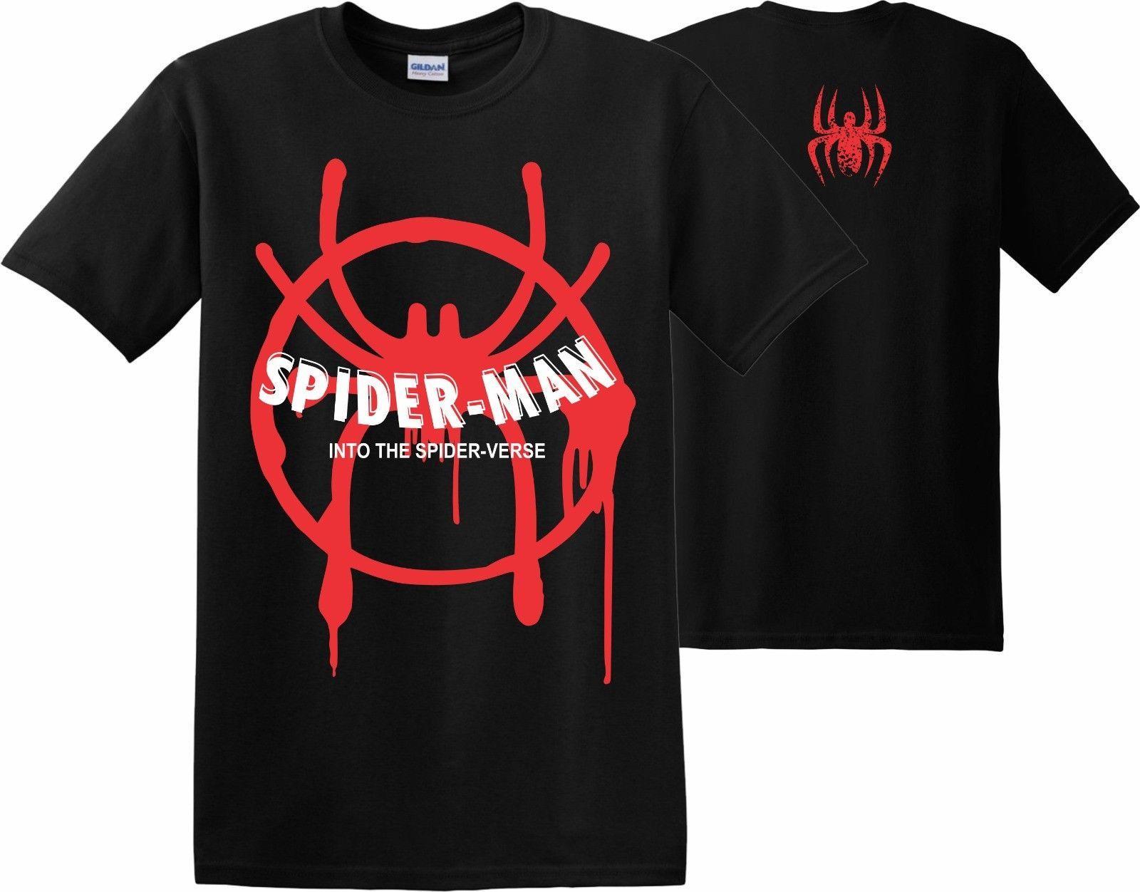 0d3dacf24 Spider Man Into the Spider Verse T-Shirt Marvel Christmas Xmas Venom Men's  Kids Custom t shirt logo text photo Mens Womens T-shirt men