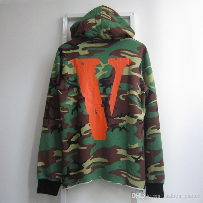 7b030a1b392a 2019 Vlone Camouflage Hoodie For Men Fashion Friends Print Cotton ...