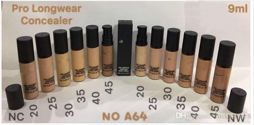 M brand NEW Makeup Liquid Foundation PRO LONGWEAR CONCEALER CACHE-CERNES 9ML Foundation good quality drop shipping