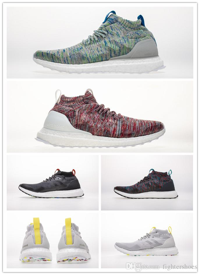 5ed4bac1ed5d5 Resembles KITH S Aspen Style Ultra Midr Feature Burgundy And Turquoise  Primeknit Casual Shoes Street Fashion Sport Running Shoes Hoka Running  Shoes Shoes On ...