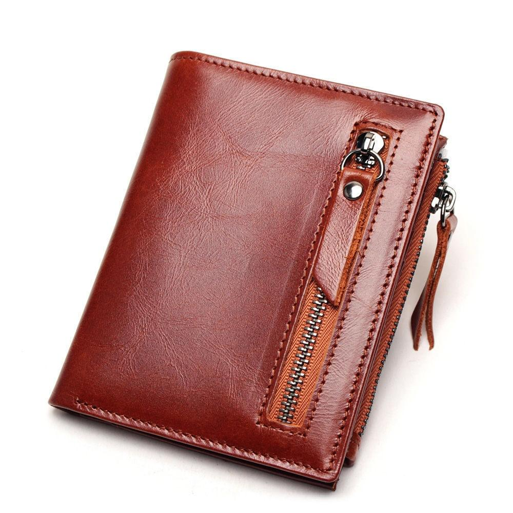 e2526d424475 High Quality Men S Genuine Leather Wallet Vintage Short Male Wallets Zipper  Poucht Male Purse Money Bag Portomonee Cheap Owl Wallet Visconti Wallet  From ...