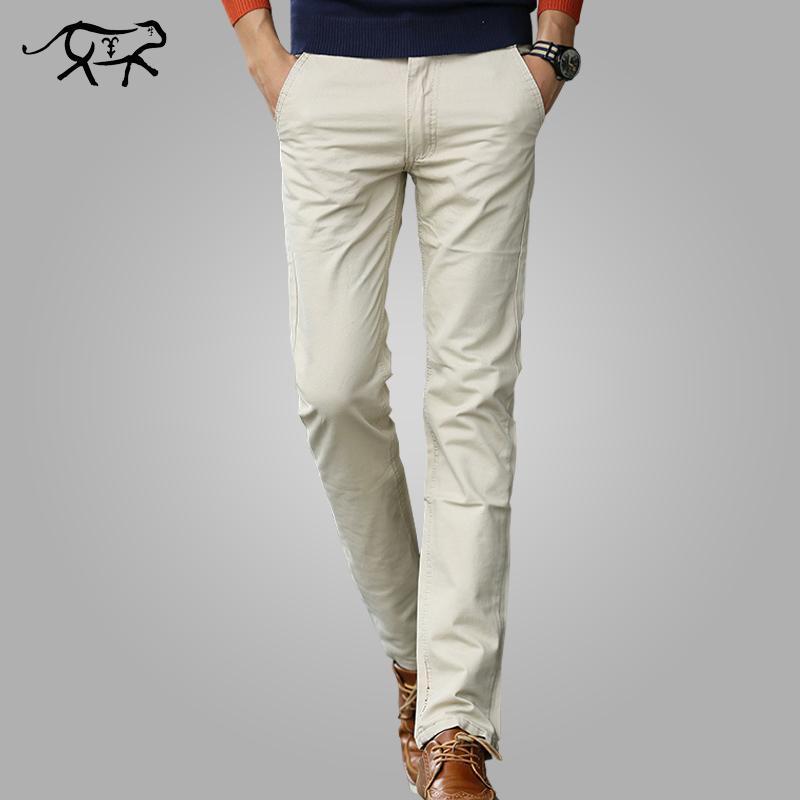 c9a9fcef692 2019 Pants Men New 2019 Mens Casual Pants Cotton Male Trousers Man Long  Straight Khaki Plus Size Pant Male Slim Business Suit Pants From H shoppy