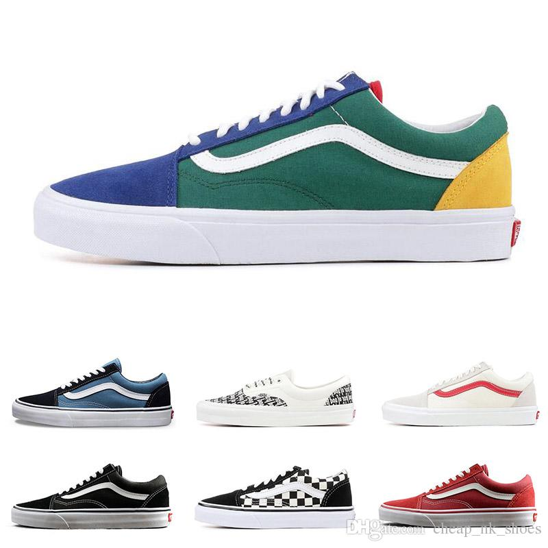 4a04da9581cc 2019 Original Vans Old Skool Sk8 Fear Of God Men Women Classic Canvas  Sneakers Black White YACHT CLUB MARSHMALLOW Skate Casual Shoes From  Cheap nk shoes