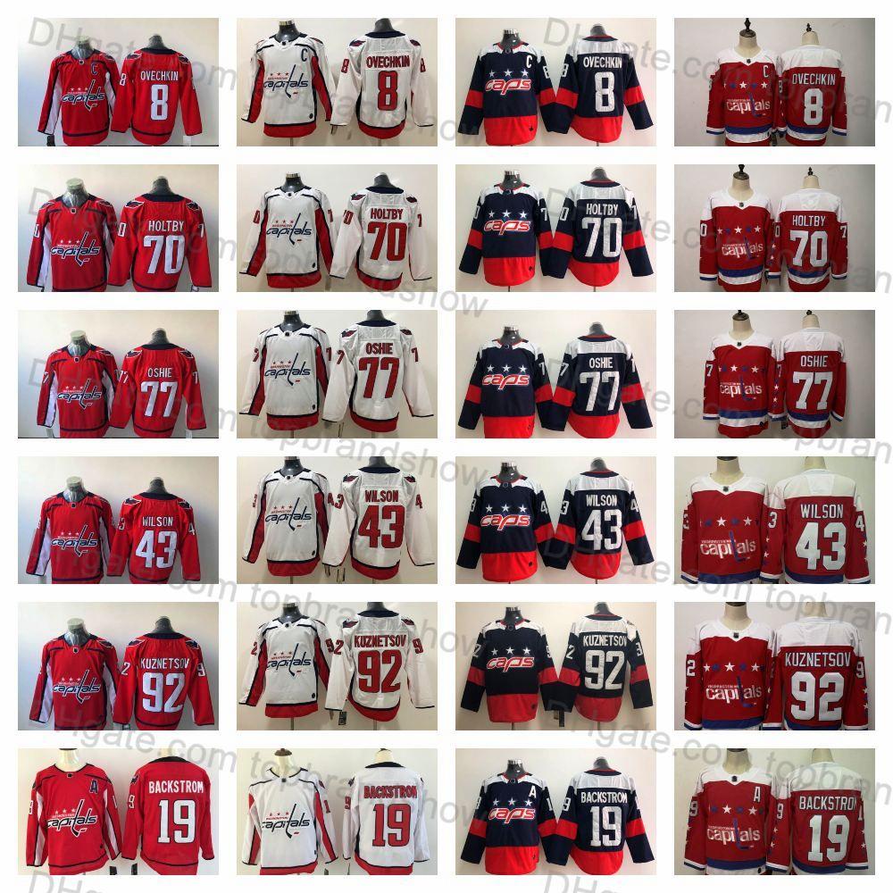 2019 Washington Capitals TJ Oshie Alex Ovechkin Evgeny Kuznetsov Braden  Holtby 19 Nicklas Backstrom Tom Wilson John Carlson Men S Hockey Jersey  From ... 1de3cb8d46a49