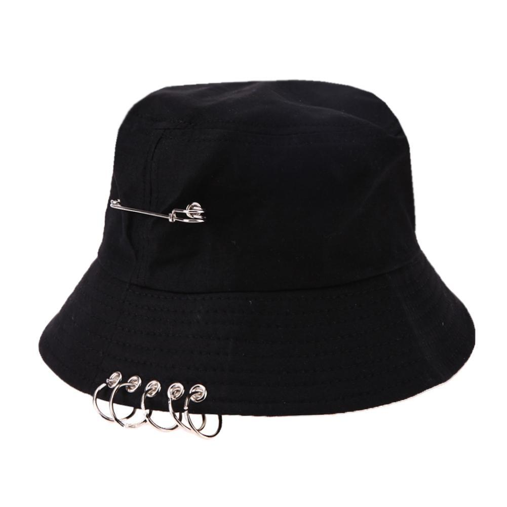 c29fd194d59 Bucket Hat Unisex Folding Hunting Fisherman Outdoor Cap Cool Girl Boy Iron  Ring Fisherman Hiphop Hat Solid Outdoor Cotton Sunhat Fedora Hats For Women  Hat ...