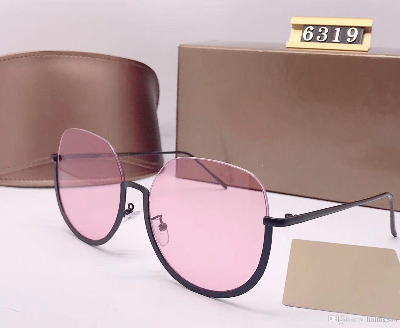 72b8f93c75f Luxury Women Designer Sunglasses 6319 Brand Fashion StyleMixed Color ...
