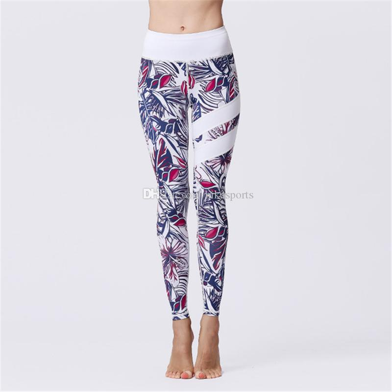 aac9e1317f5b5f 2019 High Waisted Workout Leggings Womens Sports Yoga Cropped Pants ...