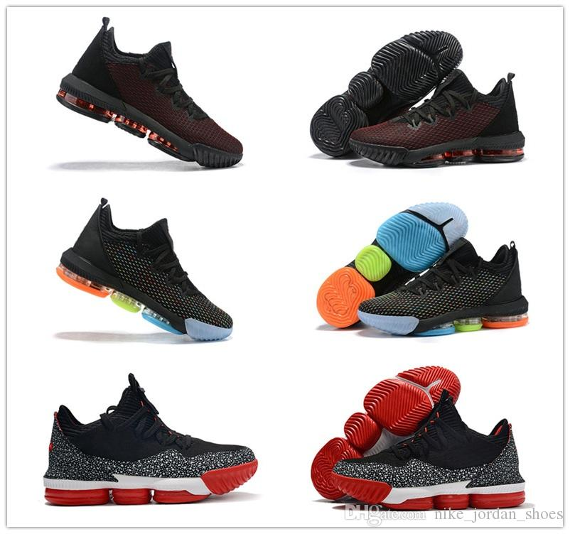 huge selection of 03c0f 463e9 Low Lebron 16 Fresh Bred Black University Red Men Outdoor Shoes Fashion  James 16 I Promise Multi-Color Mens Athletic Sports shoes