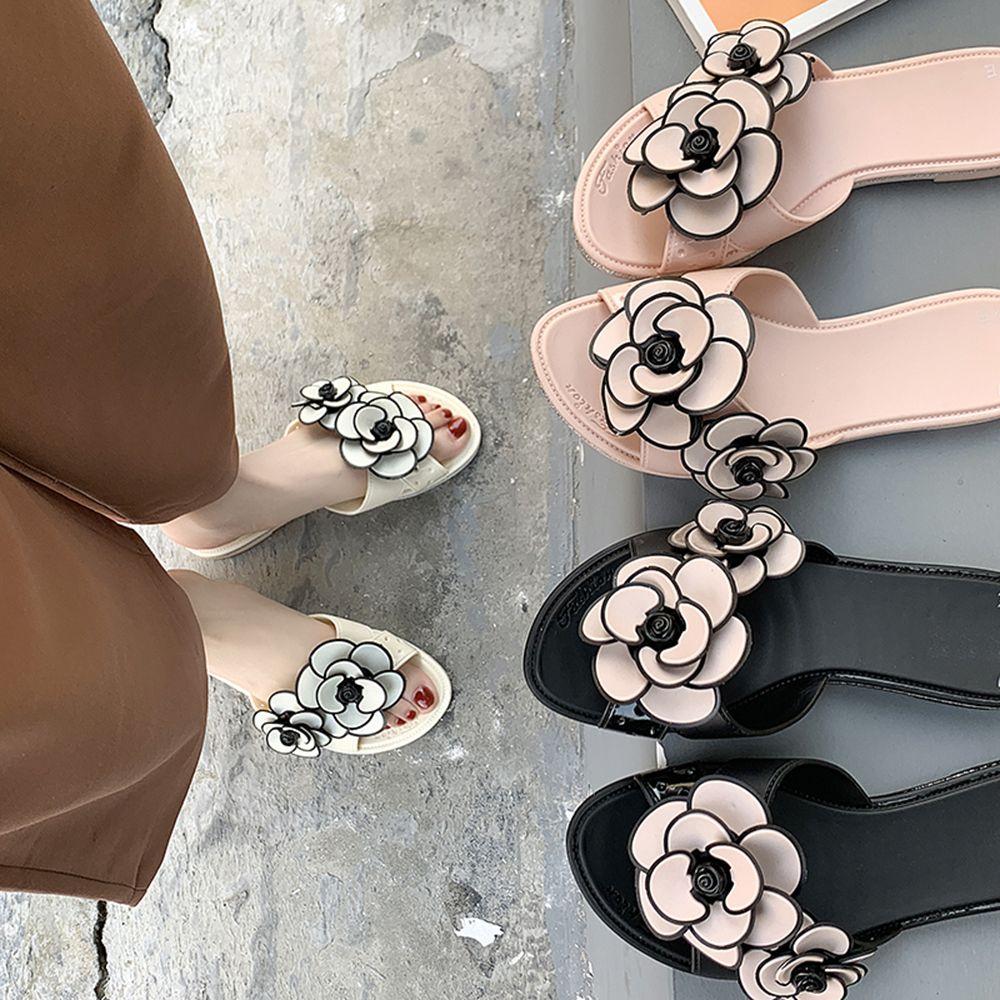1490ac7d65 New Women Sandals Flower Arch Support Slides Sandals Jelly Shoes Open Toe  Summer Beach Casual Flats Waterproof Rain Day Summer Sandals Men Sandals  From ...