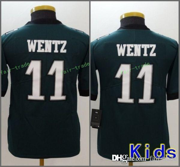 16d247e649b 2019 Youth Philadelphia Jerseys 11 Carson Wentz Eagles Stitched Kids Size S  XL From Fair Trade, $16.26   DHgate.Com