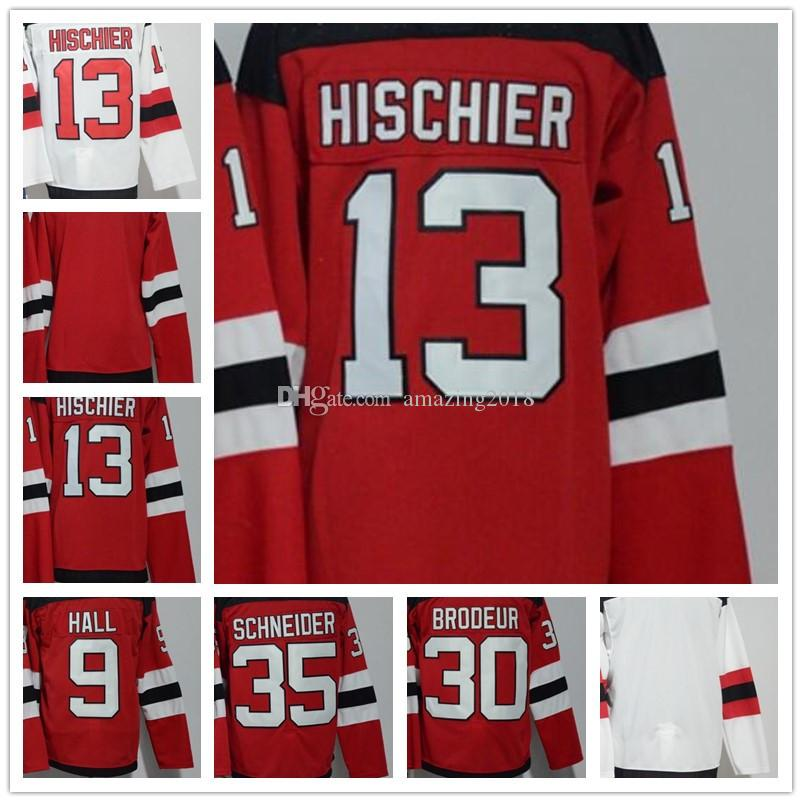 2018 Mens New Jersey Devils 13 Nico Hischier 9 Taylor Hall 30 Martin ... a264aa2d1