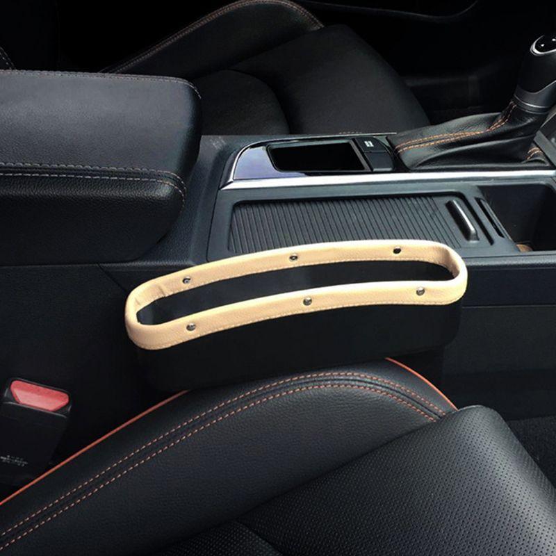 Car Seat Crevice Storage Box PU Leather Car Seat Side Gap Pocket Car Organizer Universal Stowing Tidying Leak-Proof Storage Bag