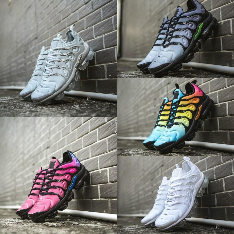 wholesale dealer 56e97 71a59 Acheter 2018 Nike Air Max Vapormax Tn Plus Off White Shoes 2019 Airmax Tn  Chaussures Grape Volt Hyper Violet Bleu Hommes Femmes Chaussures De Course  Pas ...
