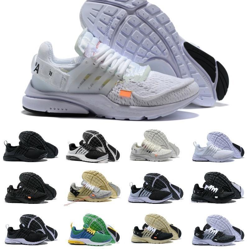 Nike Air Max Presto White off Negro Blanco X Zapatos para correr Cojín de aire barato Prestos Mujeres Hombres Entrenador Moda Zapatillas de deporte