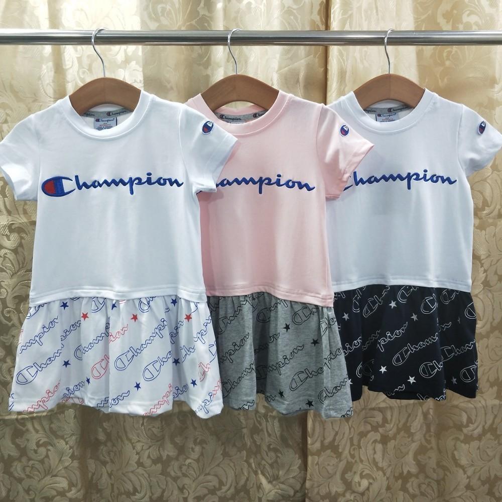 05cb8e4055c1 2019 New summer children s skirt girl s high quality dress amazing  temperament letter embroidery