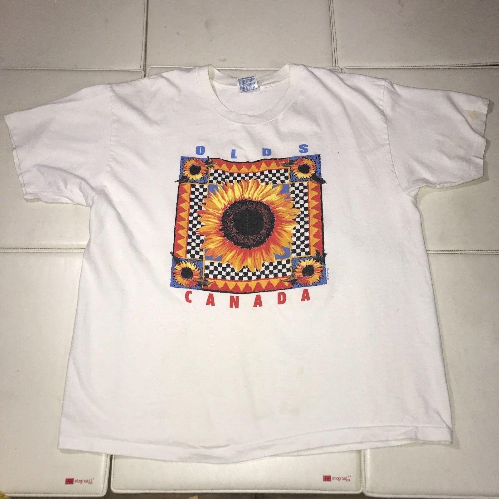 3496aed57f8f Sun Flower Vintage Tourist XL T Shirt Hamilton Olds Canada Wholesale 100%  Cotton Short Sleeve Top Tee Basic High Quality Shirt Designer Customised T  Shirts ...