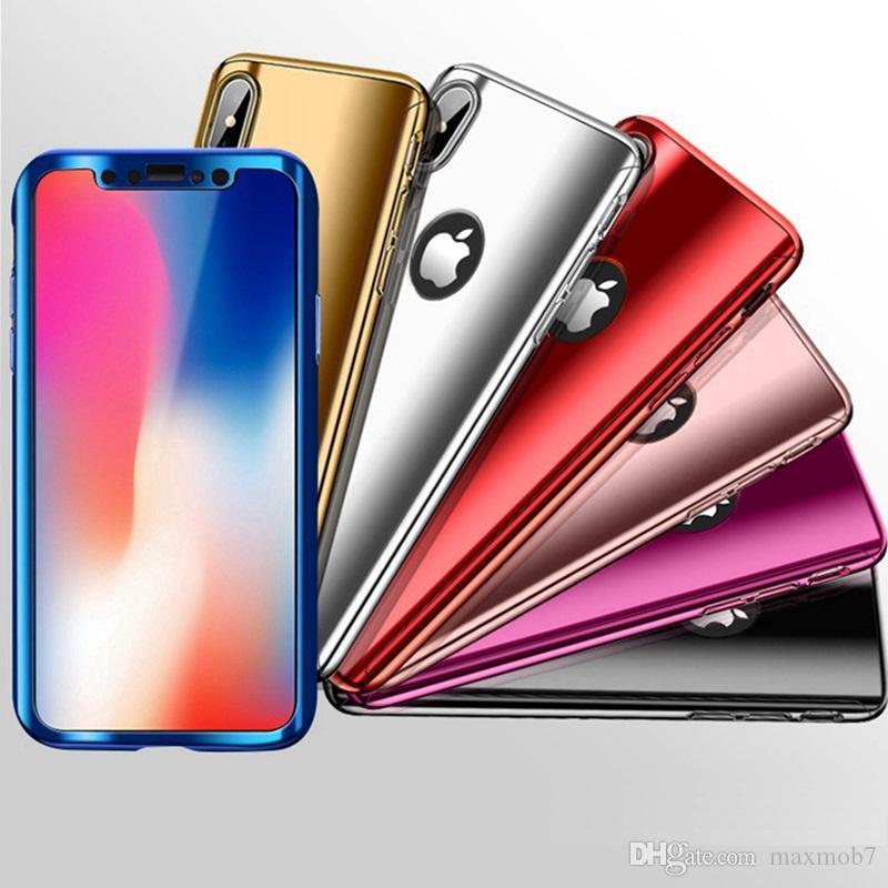 c04149daa5c Nuevo Para iphone XS MAX XR X 8 7 6S plus 360 estuche para teléfono celular