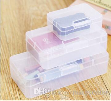 Acheter Boite De Rangement Pour Cartes Visite En Plastique Transparent Rectangulaire Papeterie Etui Articles
