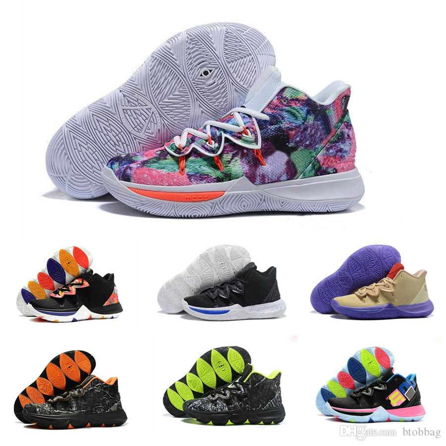 New 2019 Kyrie Basketball Shoes Designer 5 PE Little Mountain Concepts CNY Ikhet Neon Blends Taco Chaussures de basket ball Mens Trainers Sn