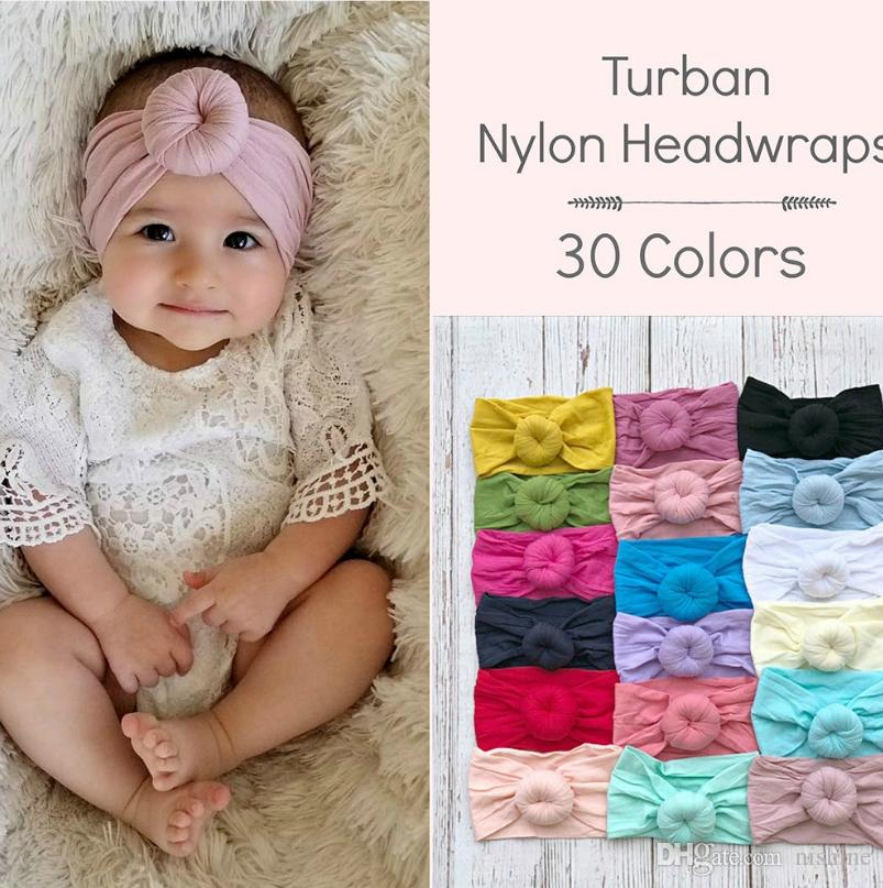 Nishine Cotton Blend Nylon Children Kids Headbands Newborn Turban Round  Knot Head Wrap Hair Accessories Birthday Gift Hair Accessories For Baby  Girls ... 3954e9c13a4d