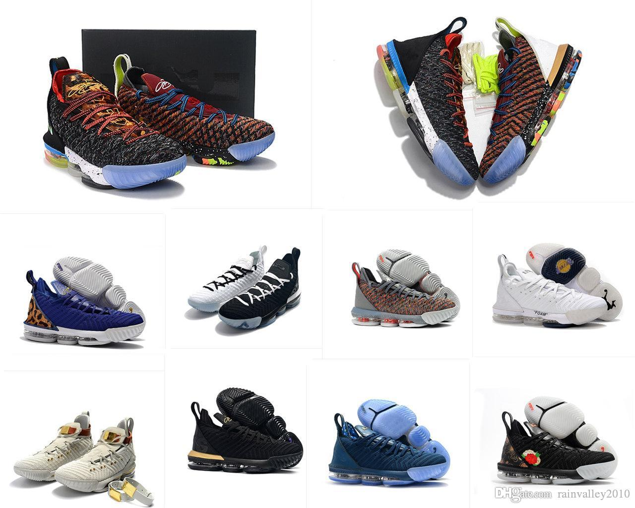 official photos 1f535 ba198 what the lebron james 16 XVI mens basketball shoes for sale 16s MVP  Christmas BHM Oreo youth kids women sneakers with original box