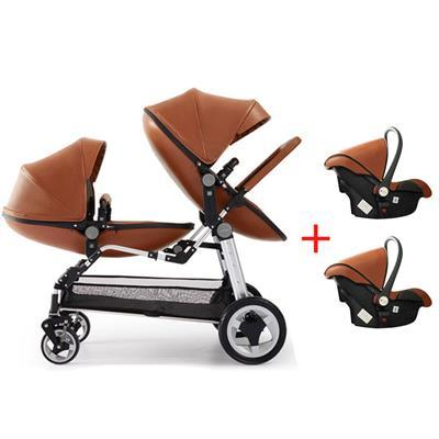 Babyfond Luxury Twins Stroller With Car Seat 3 In 1 Double Stroller