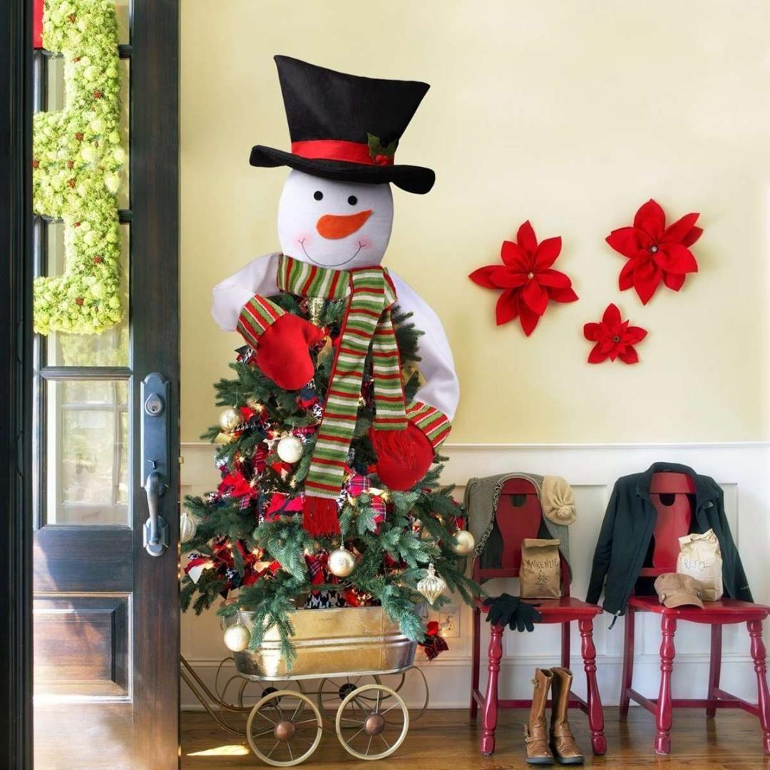 b04ddecfc62 Compre Tela Muñeco De Nieve Árbol De Navidad Decoración De La Fiesta Topper  Colgantes Adornos Mercado Mall Hogar Jardín Decoración Suministros A  40.81  Del ...