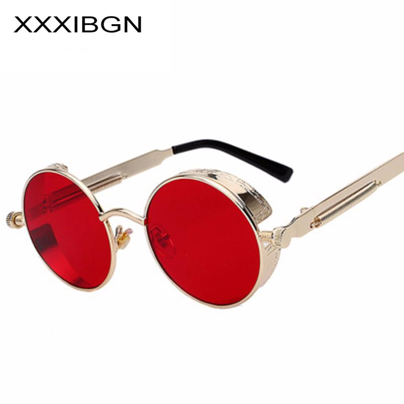 456f16d1c6fe9 CJXIN Retro Metal Steam Punk Sunglasses Round Frames Steampunk Flips Sun  Glasses Men Women Vintage Eyewears UV400 Gafas De Sol Sunglasses Case  Knockaround ...