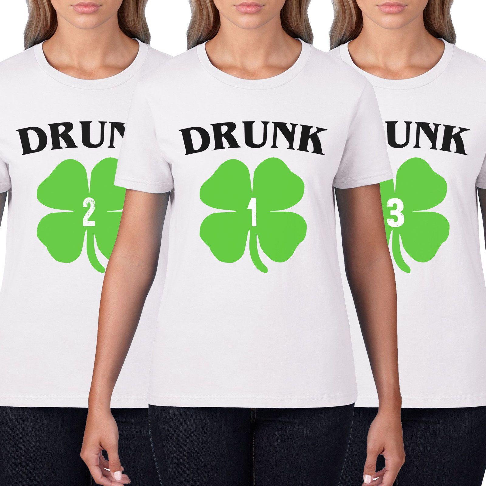 dcc4bee0e Drunk 1 Drunk 2 Womens Funny Best Friend St Patricks Day T Shirt Men  Ireland P28 Men Women Unisex Fashion Tshirt Cheap T Shirt Design Your T  Shirt From ...