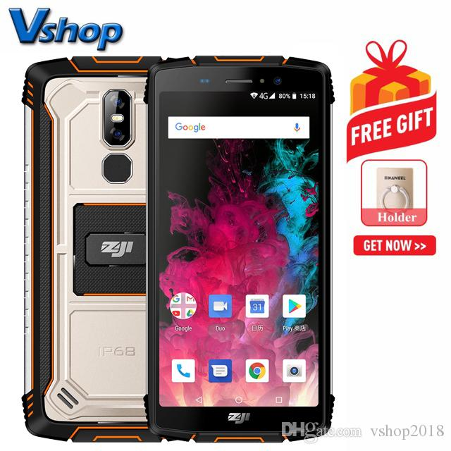HOMTOM ZOJI Z11 Rugged Phone 4GB 64GB IP68 Waterproof Dustproof Shockproof  Dual Back Cameras 10000mAh Battery Face ID & Fingerprint Unlock