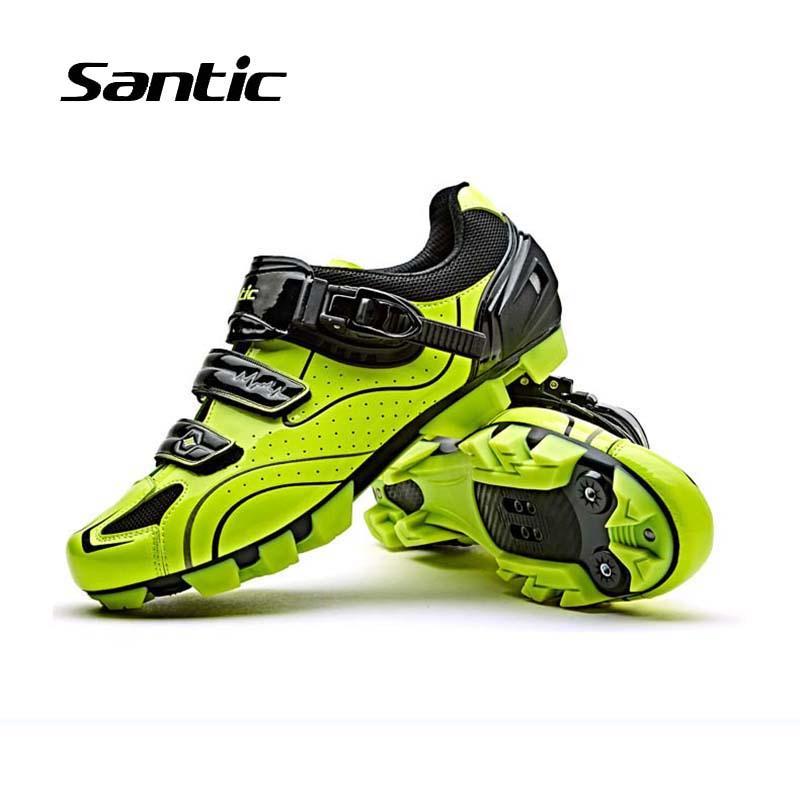 58a6c5bdaf Santic Men Mountain Bike Scarpe 2018 Pro Team Racing Scarpe da ciclismo  Traspirante antiscivolo Bicicletta Sneakers Ciclismo 3 colori