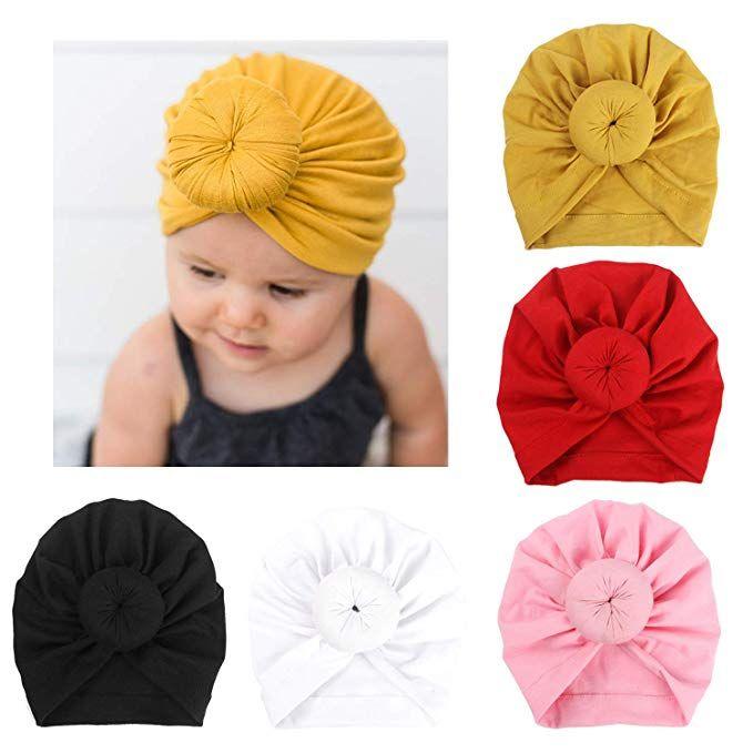 c43f7682da8 Cute India Turban Bun Knot Hats Baby Infant Donut Hat Newborn Elastic  Cotton Beanie Multicolor Infant Turban 19.5 15CM BK1 From Monica774