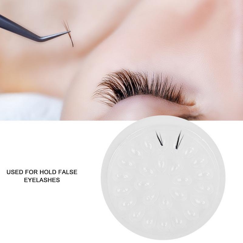 d923768bfcc Plastic Flower Shape Glue Gasket Glue Pad Transparent Holder For Eyelash  Extension Eyelashes Adhesive Pallet Paste 4.7cm Eyelashes Extensions Eylure  Lashes ...