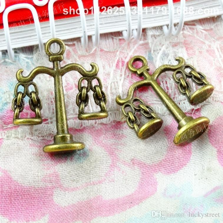 50pcs 23*18MM Antique Bronze ornament alloy balance charms pendant beads Korean jewelry New, vintage musical instrument charms, music charms