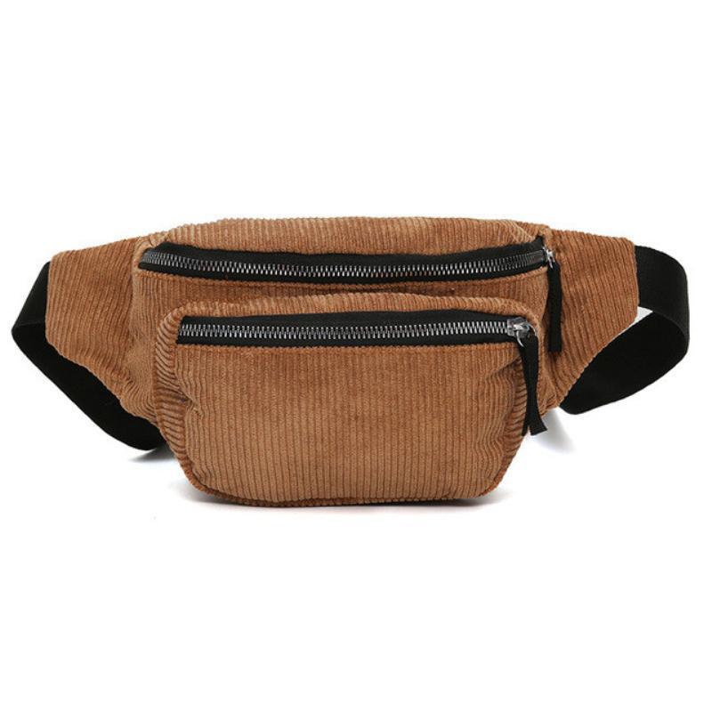 4e4972d7a9d7 Vintage Corduroy Waist Pack Women Pouch Belt Shoulder Bag Leisure Travel  Fanny Pack For Teenager Chest Bag Hiking Pack Kavu Backpack From Hotbuybuy