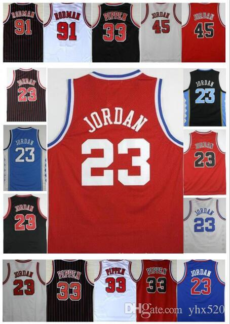 low priced ee9e8 e807a Men Best-QUALITY Embroidery 33# Scottie Pippen Jersey 91# Dennis Rodman  Jersey Shirts Michael New Mesh Material Red White Black Jerseys Stit