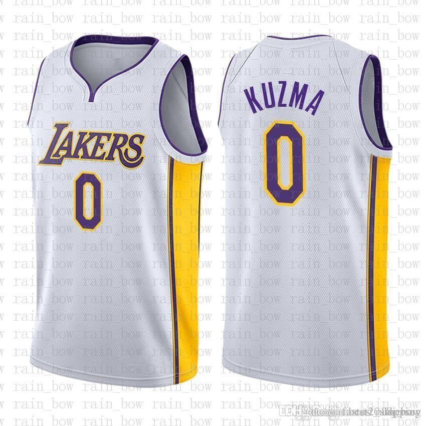 huge discount 77729 9557b 9.99 cheap SALE top 2016 Mens 0 Kyle Kuzma Los Angeles Jersey Lakers Mens  Kids Youth Basketball Jerseys
