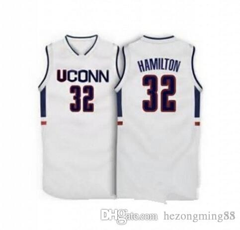 on sale a5d81 2e3ef 32 Richard Hamilton UCONN Connecticut Huskies 1996 Men s Embroidery  Stitched Basketball Jersey Custom any name and number