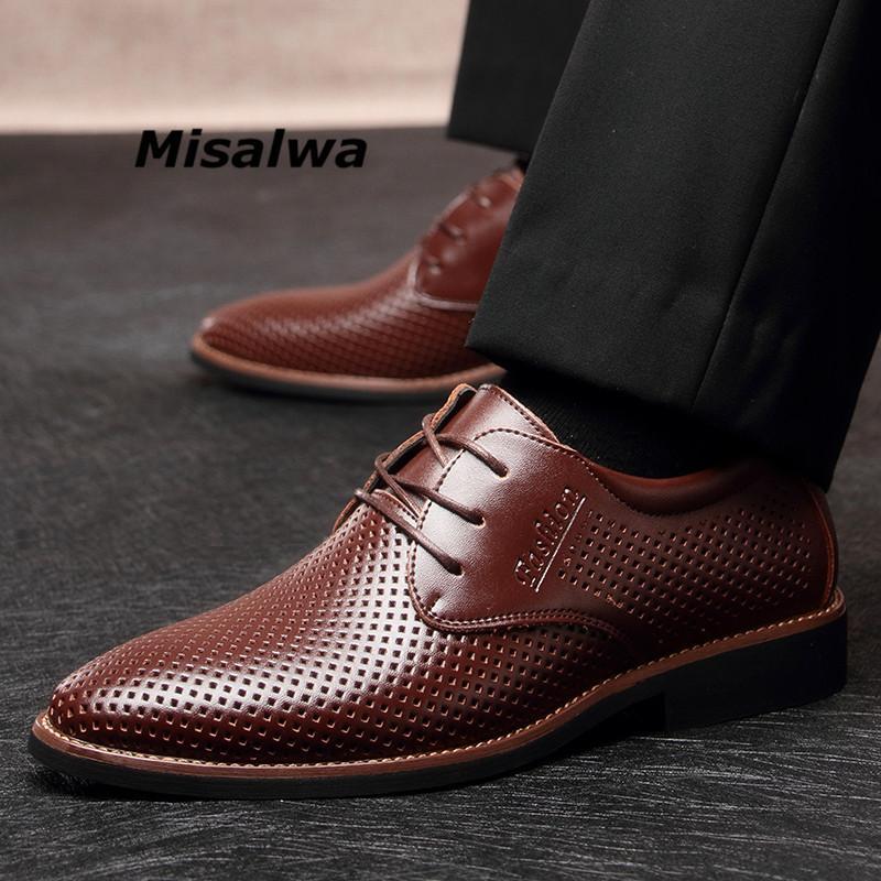 89d1bd012ba Misalwa Men S Casual Formal Shoes Plain Toe Classic Hollow Oxford Dress  Shoe Black Business Work Office Shoes Men Daily Footwear Mens Casual Shoes  Penny ...