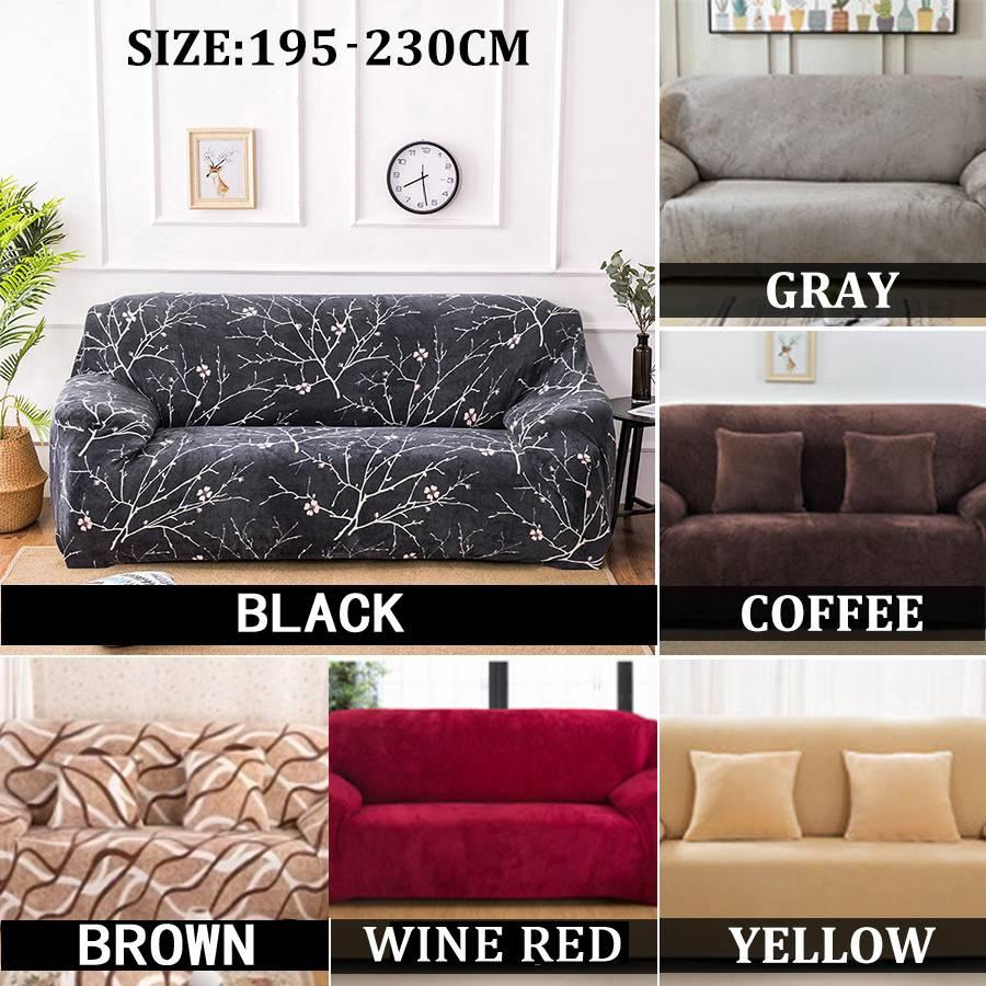 Slipcover Stretch Four Season Sofa Covers Furniture Protector Polyester  Loveseat Couch Cover Sofa Towel 3/4-seater