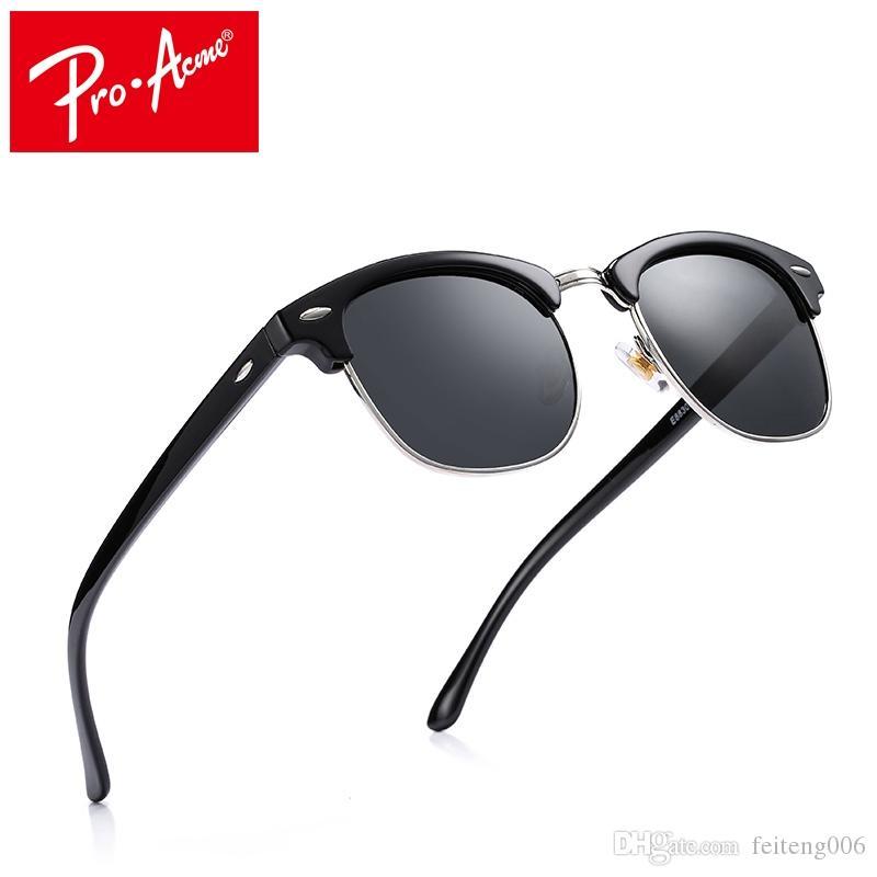 8ba9f967e9 2019 Pro Acme Classic Fashion Sunglasses Men Brand Designer Half Metal  Mirror Sun Glasses Male Gafas De Sol UV400 CC0528 #16130 From Feiteng006,  ...