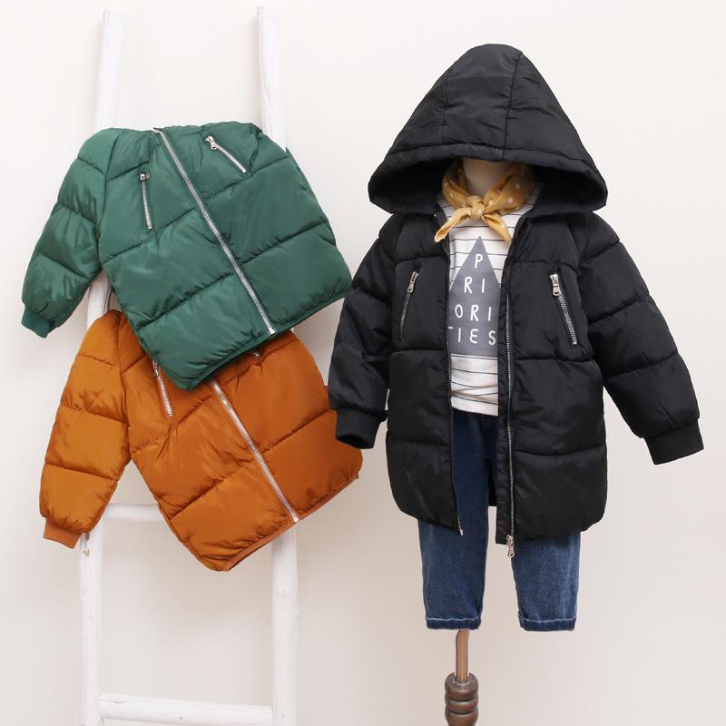 ab2041b734b7 Girls Winter Jackets Boys SimpleStyle Girl Fashion Outerwear Baby ...