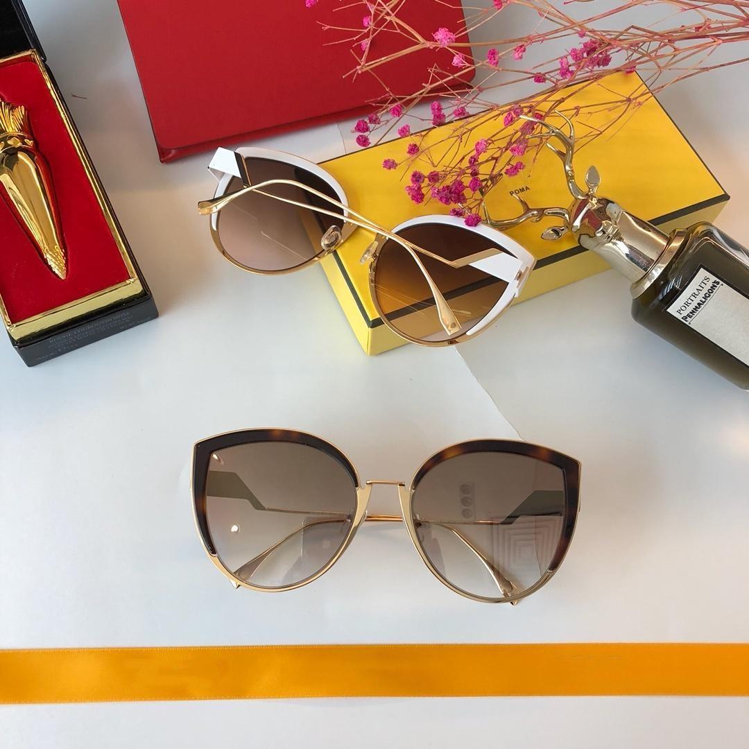 ae32d84beb 0337 S Gold White Cat Eye Sunglasses Brown Smoke Lens Women Fashion Brand  Sun Glasses Uv Protection Eyewear New With Box Prescription Sunglasses  Glasses ...