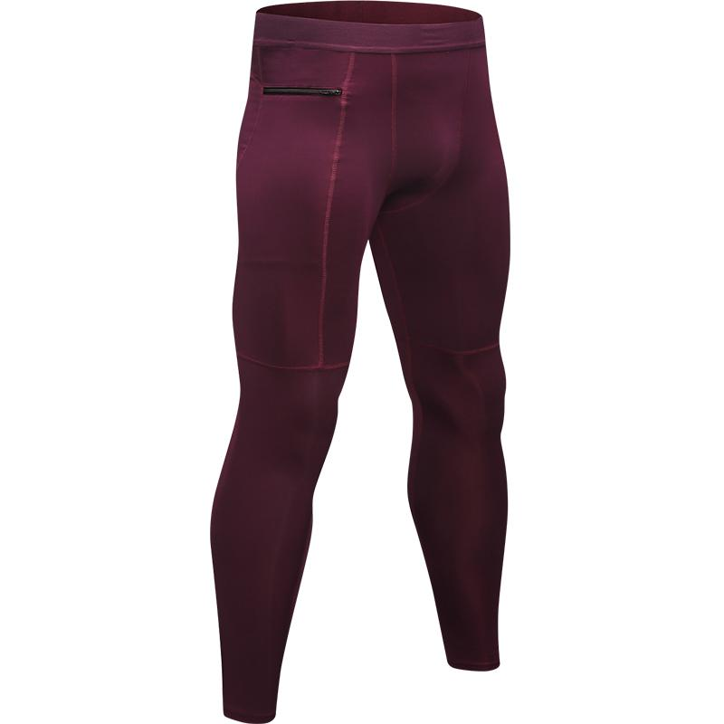 190aa322a7ff09 2019 With Zipper Pocket Basketball Compression Pants Sports Running Tights  Men Jogging Leggings Fitness Gym Clothing Yoga Leggings From Feiteng005, ...