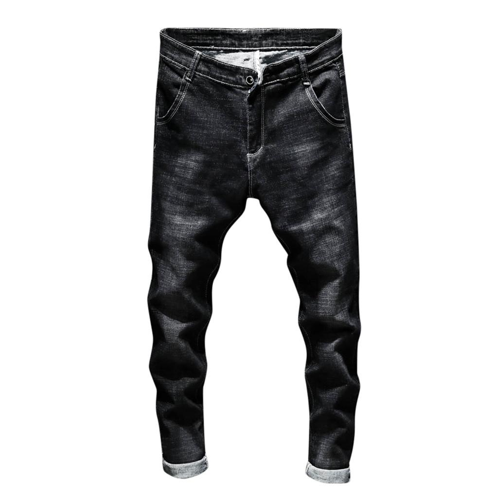 6e883baa9b 2019 FeiTong Jeans Men Top Brand Men Clothes 2019 Casual Autumn Denim Zipper  Fly String Trousers Jeans Pants Of Male From Combocai, $23.18   DHgate.Com