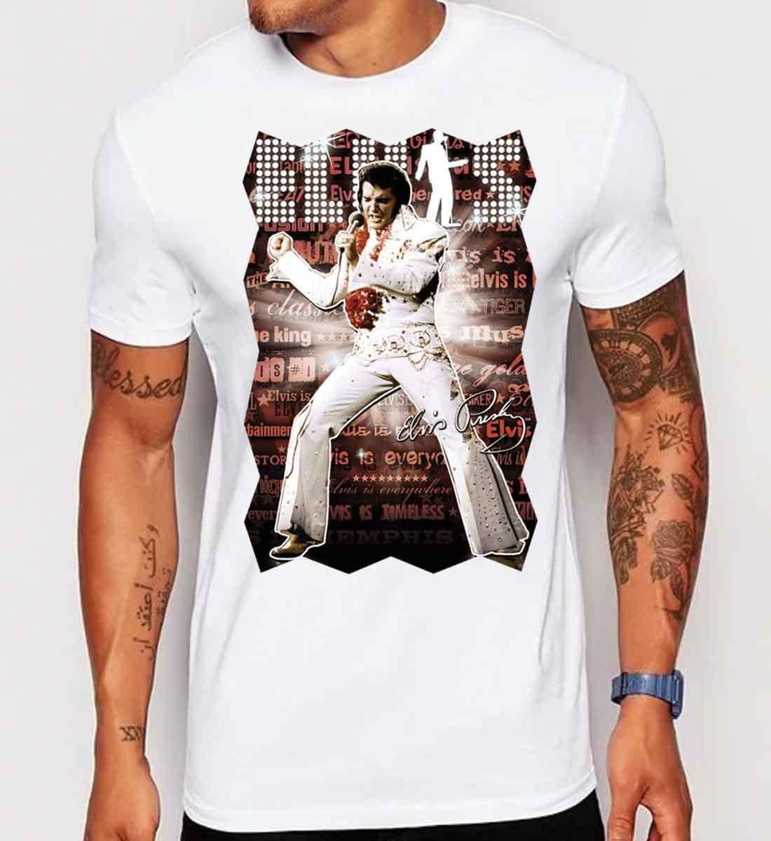 8123a6684 Mens Elvis Presley Vintage Rock Roll Music Poster Retro Art Classic Jazz  Guitar Make Your Own Tee Shirt Design Crazy T Shirt Design From Darkcup, ...